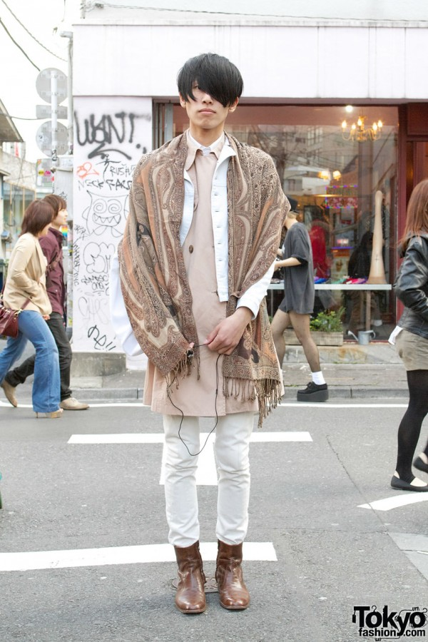 Harajuku Guy w/ Lad Musician, Helmut Lang & Resale Fashion