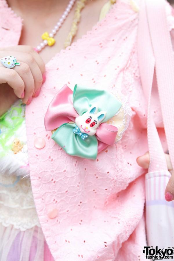 Party Baby Rabbit Brooch in Harajuku