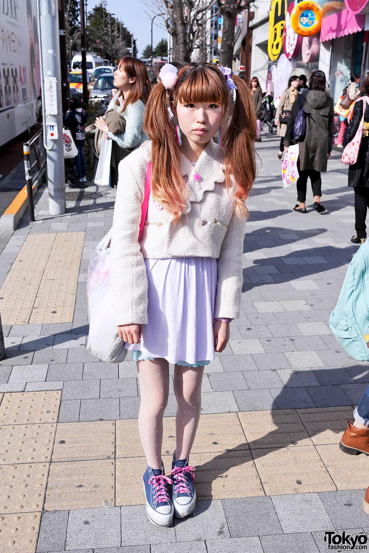 Cute Cropped Jacket in Harajuku
