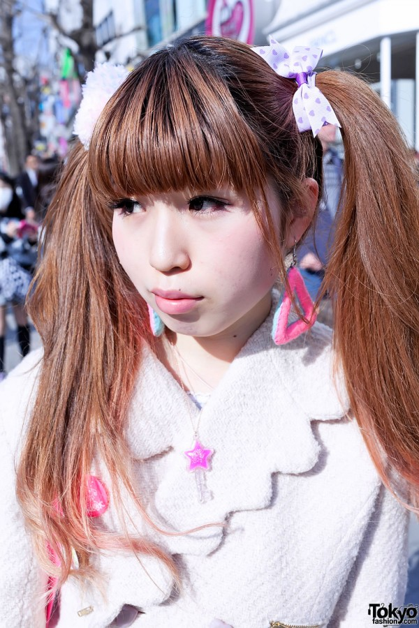 Japanese Twintail Hairstyle in Harajuku