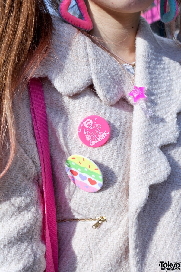 Cute Buttons & Candy Key Necklace in Harajuku