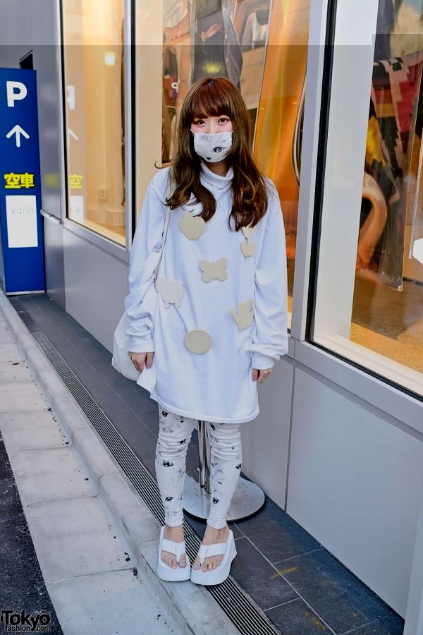 Maho in White in Harajuku