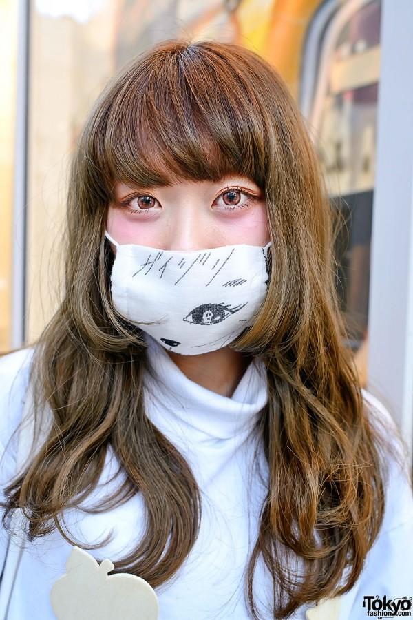 Illustrated Mask in Harajuku