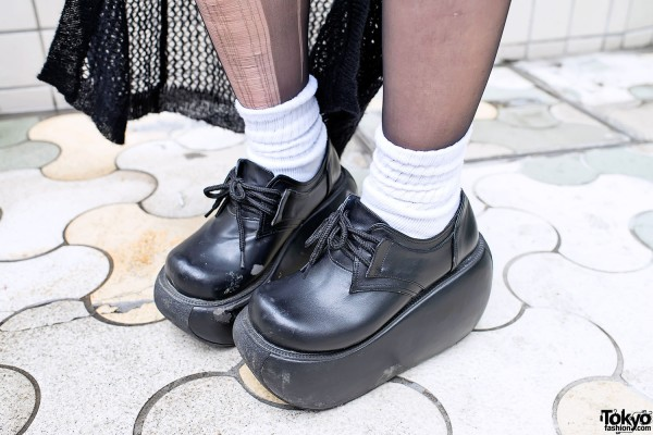 Chunky Platform Shoes in Harajuku