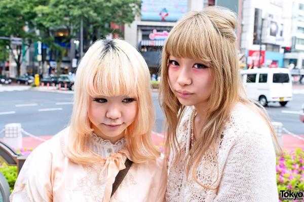 Blonde Hair & Cool Harajuku Eye Makeup