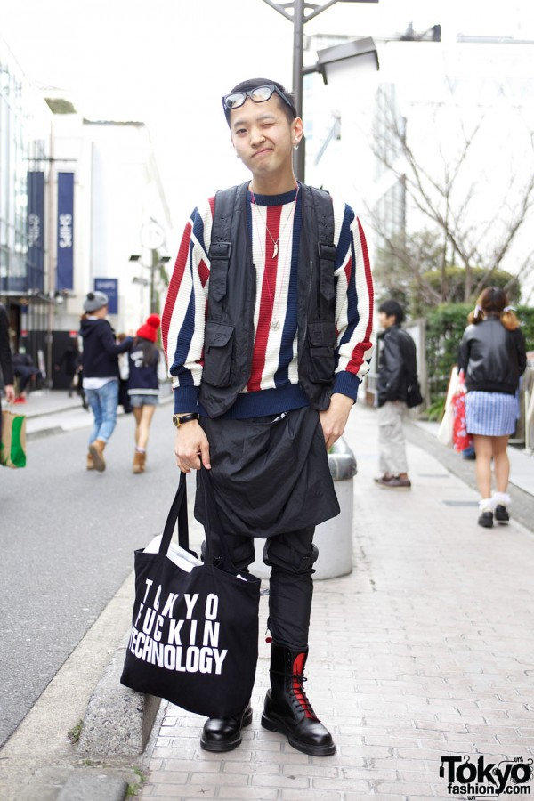 Hide in Harajuku Wearing Vintage, Roc Star & Swagger x Dr. Martens