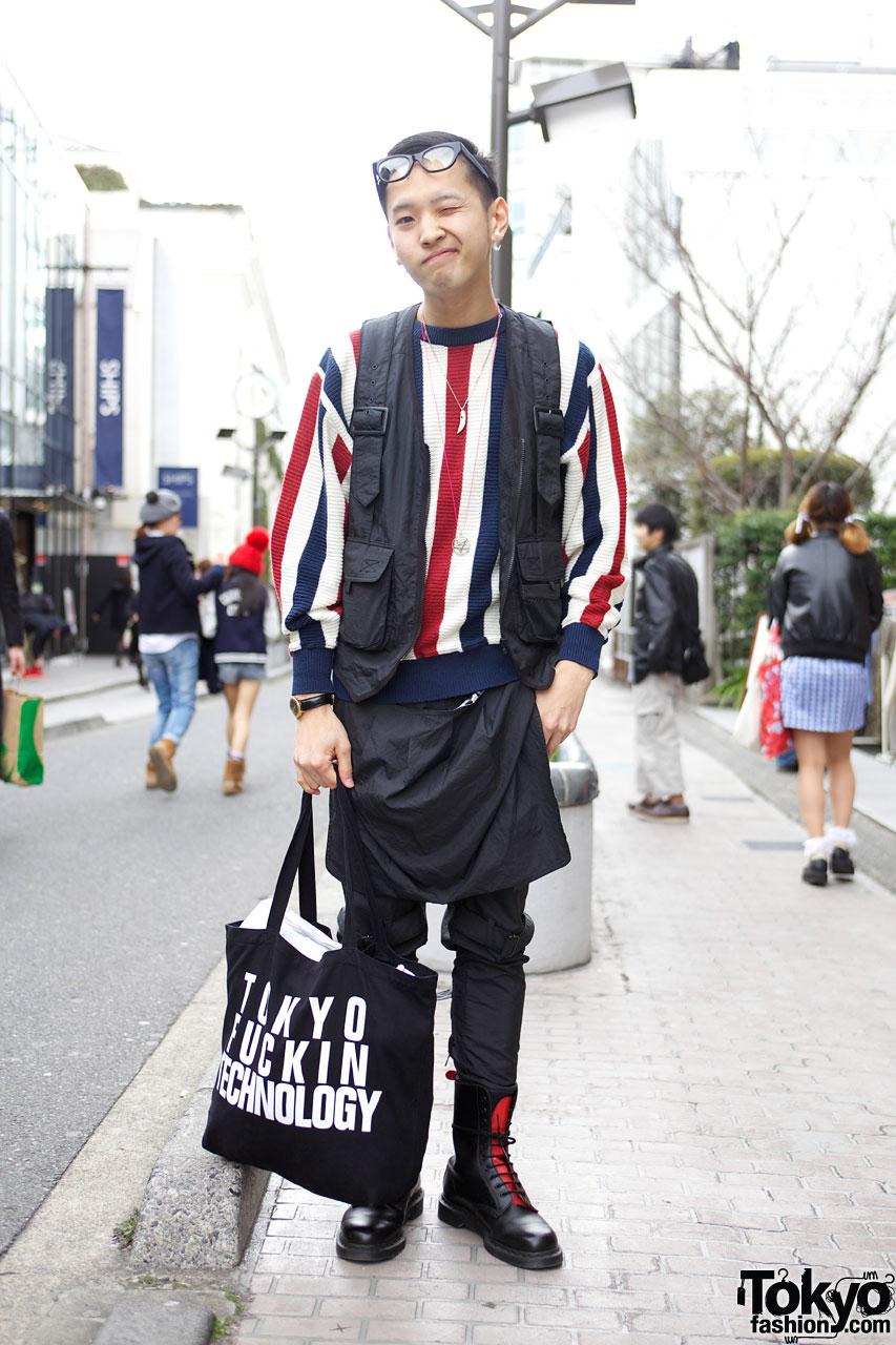 Roc Star Apron Pants in Harajuku