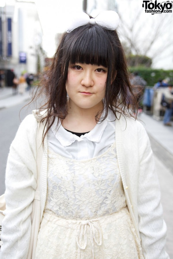 Kinji cardigan & Spinns lace dress