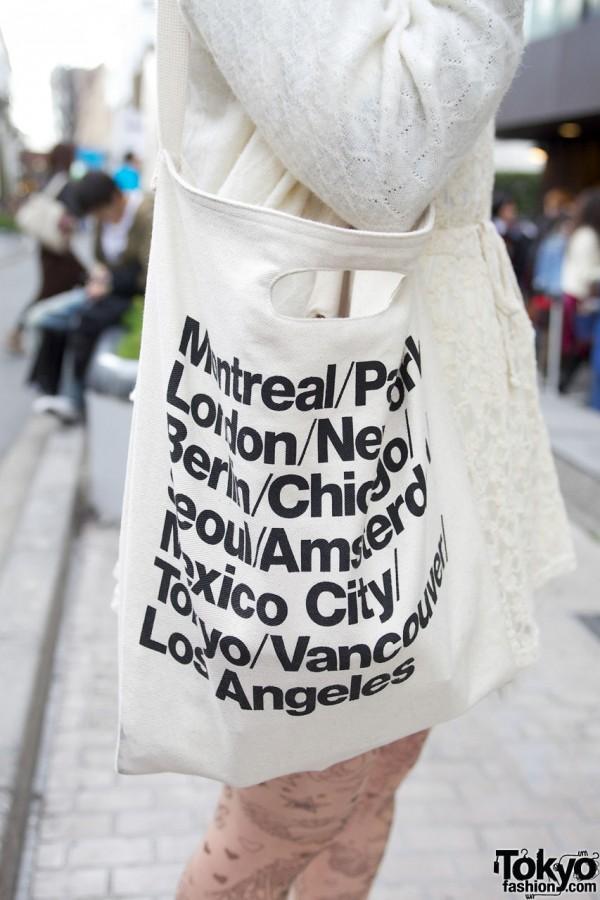 American Apparel tote bag in Harajuku