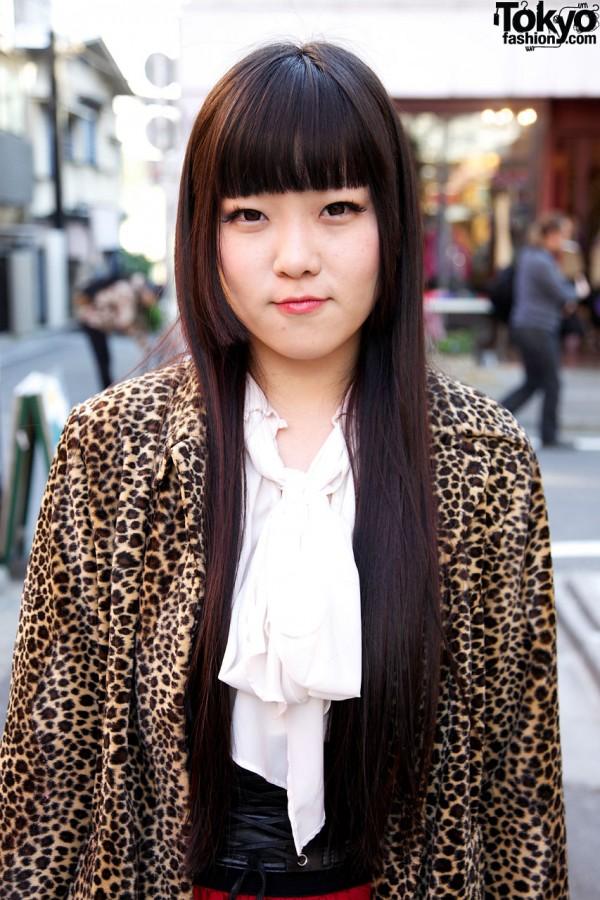 Resale leopard print coat in Harajuku