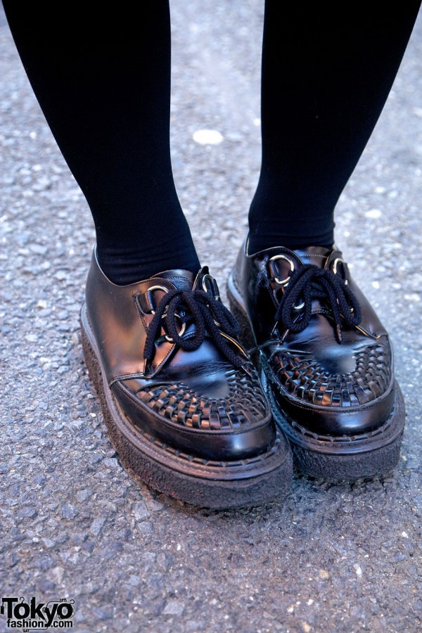 Black George Cox creepers & black tights