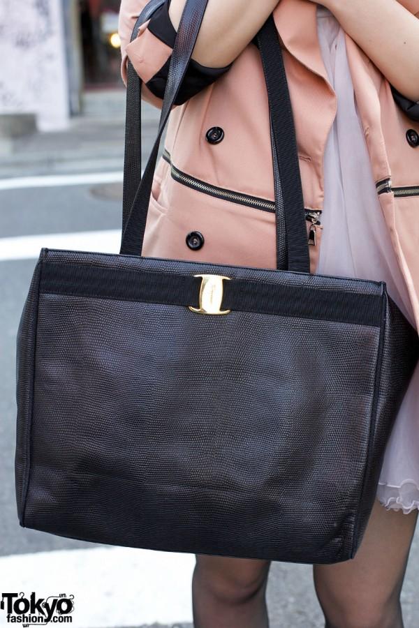 Ferragamo purse in Harajuku