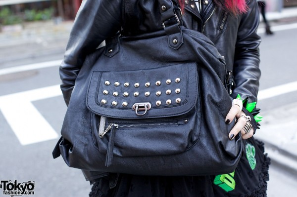 Studded Leather Purse in Harajuku