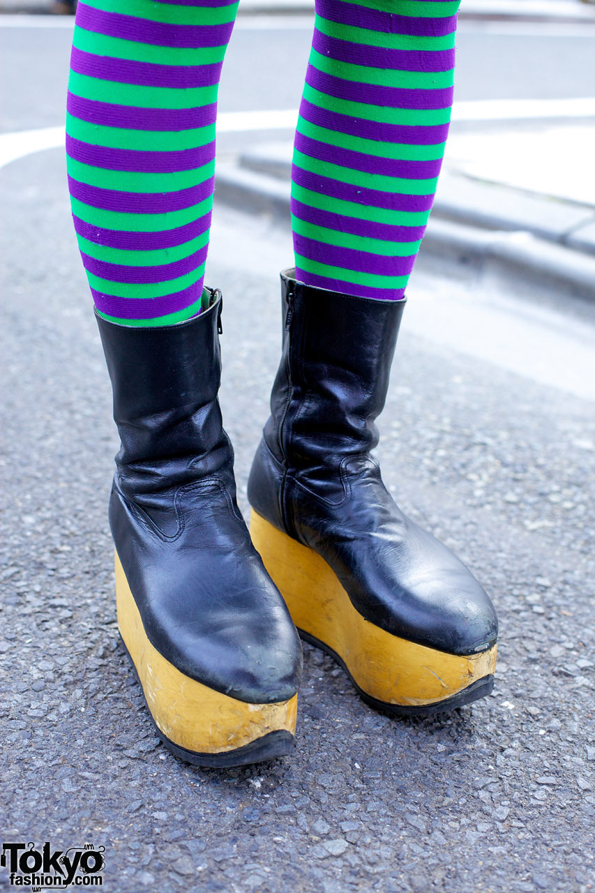 Striped Thigh Highs Amp Vivienne Westwood Boots Vs Rainbow