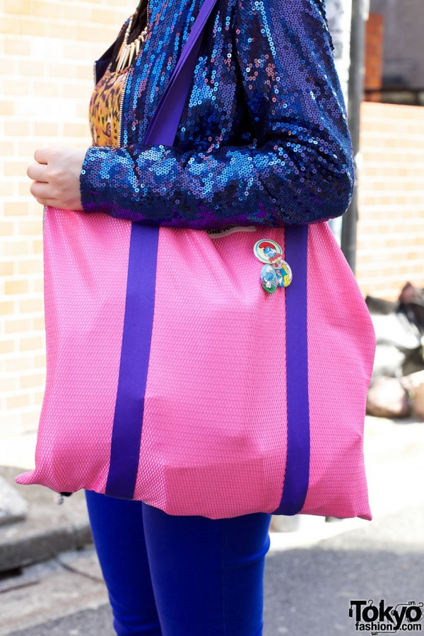 Pink Bag from Korea & The Smurfs