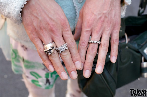 Undercover silver rings