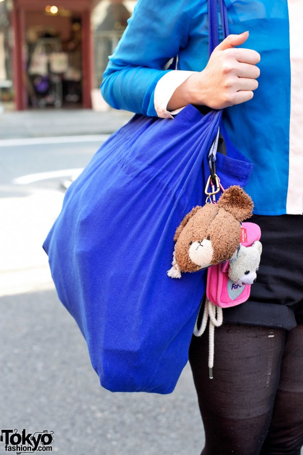 Resale tote bag w/ stuffed toys
