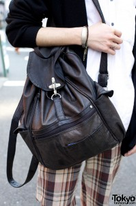 Resale leather backpack