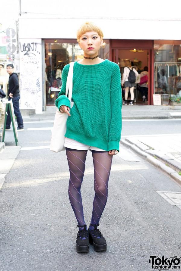 American Apparel Sweater & Sesame Street Bag