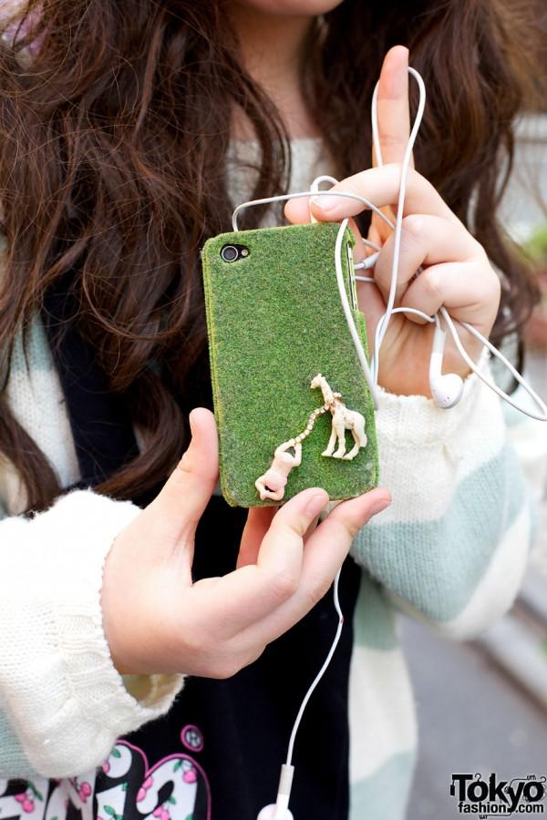 Whimsical handmade mobile case