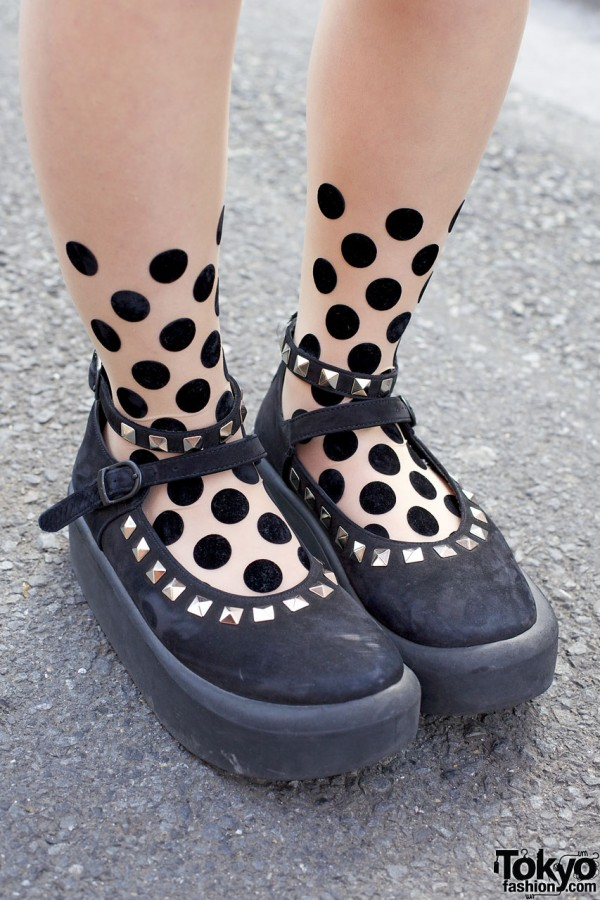 Studded Tokyo Bopper shoes & tattoo tights