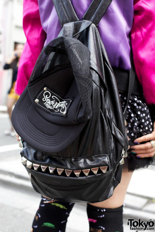 vinyl monomania backpack in Harajuku