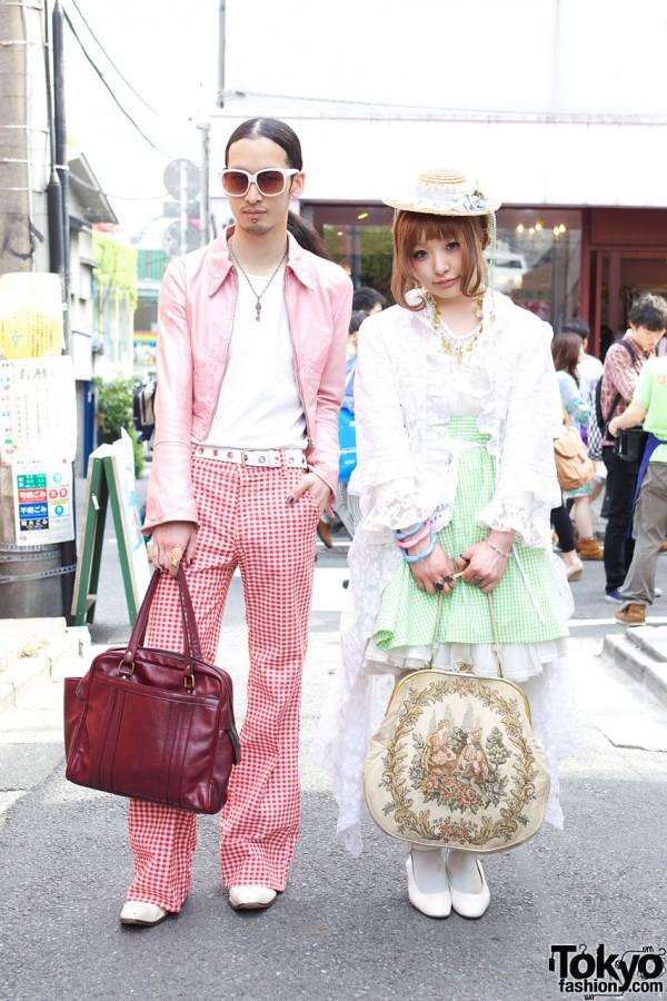 Harajuku Guy & Girl with Gingham Springtime Style