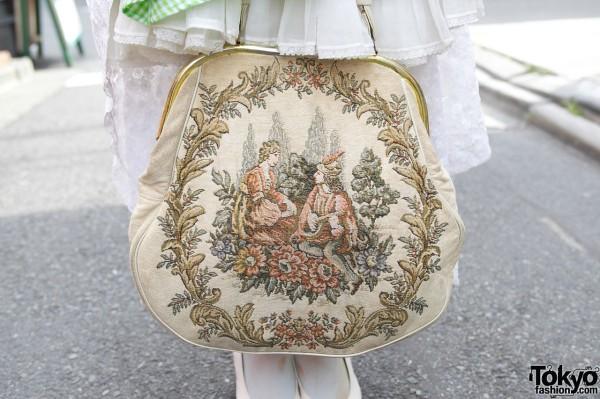 Vintage tapestry purse