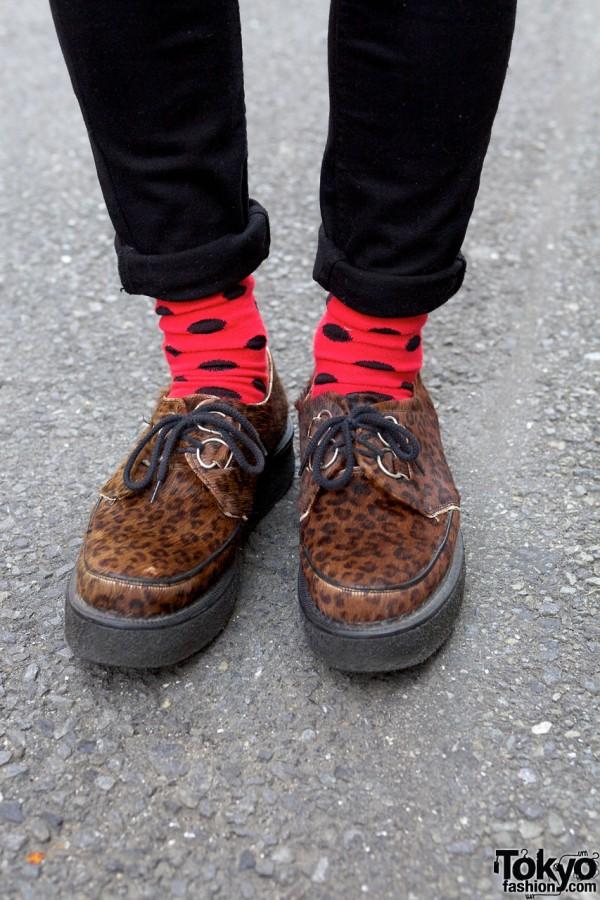 Polka dot socks & George Cox shoes