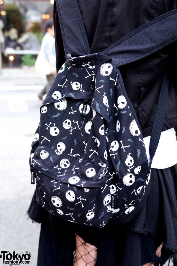 full article for this photo zombie loving harajuku girl in black peace now sky screams blue - Nightmare Before Christmas Backpack