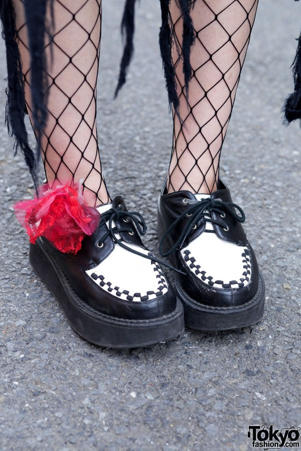 Creepers, Fishnets & Red Lace