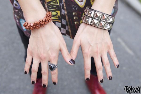 Studded Wristband in Harajuku