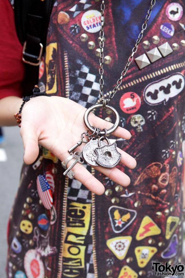 Charms & Keys Necklace in Harajuku