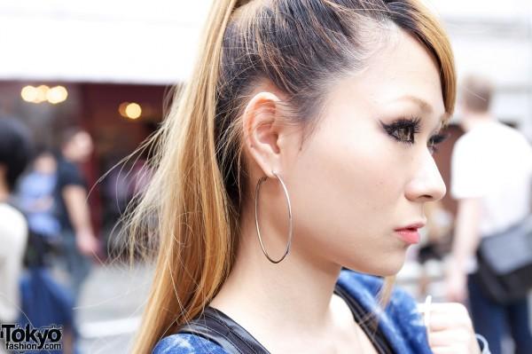 Hoop Earrings in Harajuku