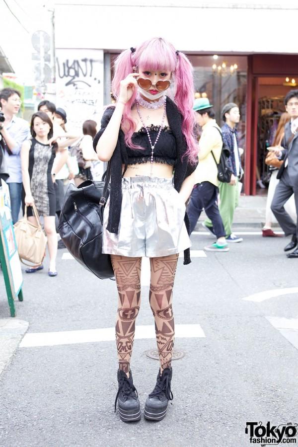 Juria Nakagawa Wearing Bubbles Harajuku & Mam AvantGarde