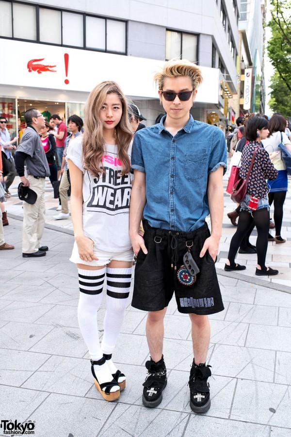 Thigh-High Tube Socks & Vision Street Wear