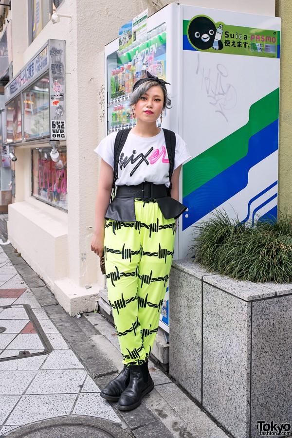 Neon Barbed Wire Pants in Shibuya