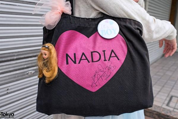 Nadia Harajuku Bag & Doll Head