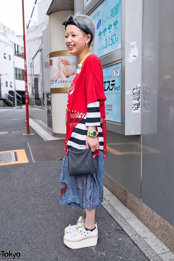 Vintage Pouch & Cute Harajuku Street Fashion