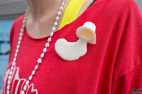 Spilled Dairy Creamer Pin in Harajuku