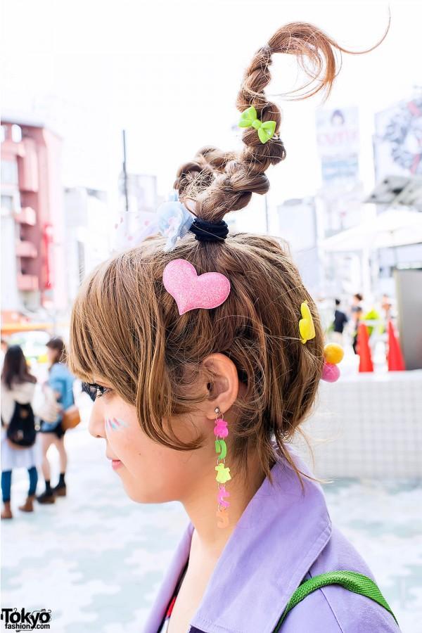 6%DOKIDOKI Arigatou Earrings in Harajuku