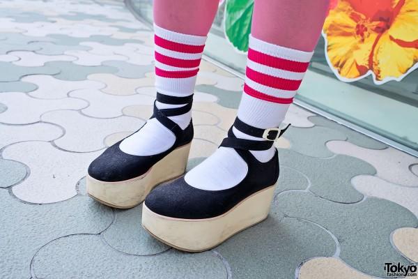 Tokyo Bopper Shoes & Striped Socks