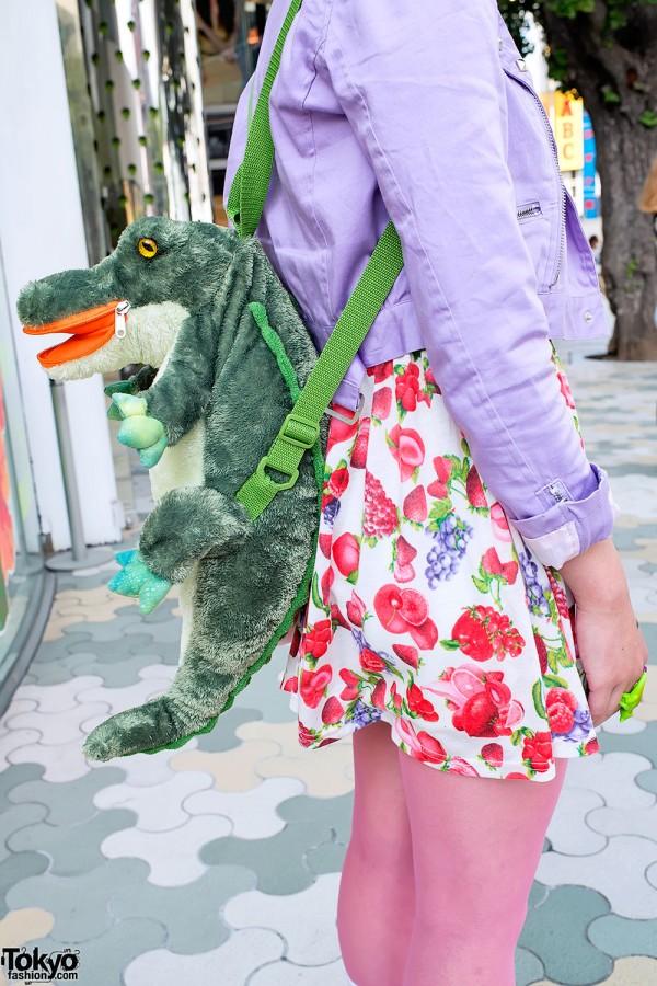 6%DOKIDOKI Alligator Backpack