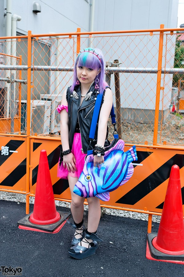 Purple Pastel Hair, Spike Headband & Winged Rocking Horse Shoes