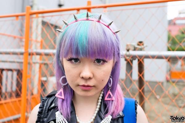 Spike Headband & Rainbow Hair in Harajuku