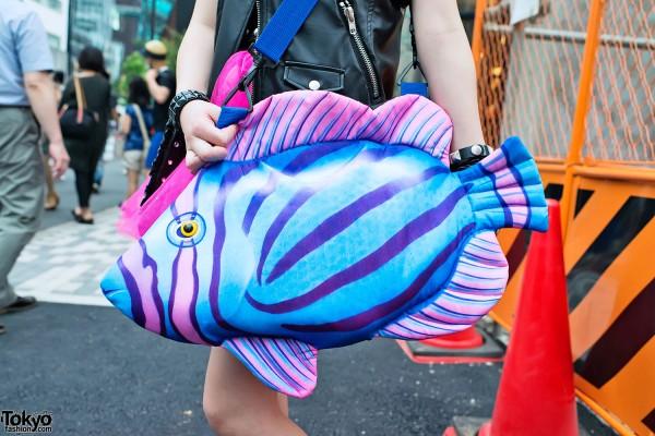 Colorful Fish Purse in Harajuku