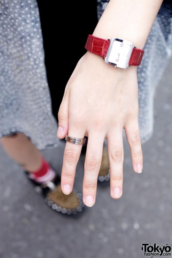 Silver Shine Bright ring & rectangular wrist watch