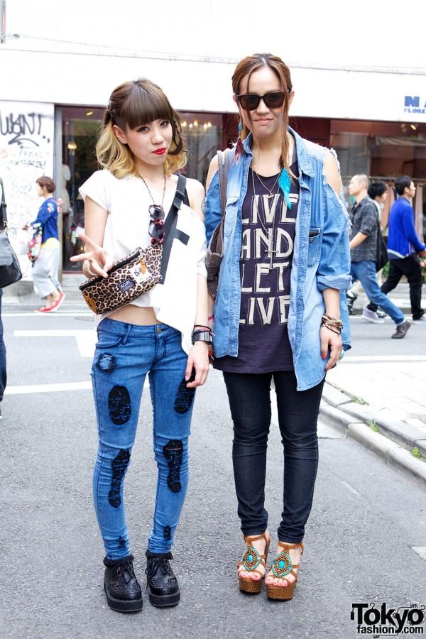Gyda Patched Jeans & WC by Wakatsuki Chinatsu Shirt