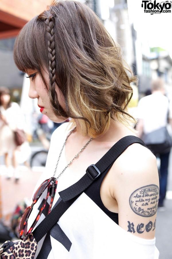 Tattooed girl in Harajuku