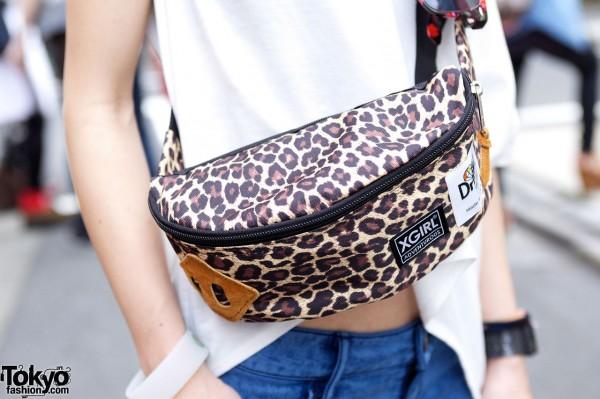 X-Girl leopard print bag